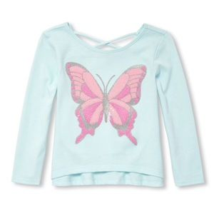 NWT Children's Place Butterfly Shirt Top 12-18mo